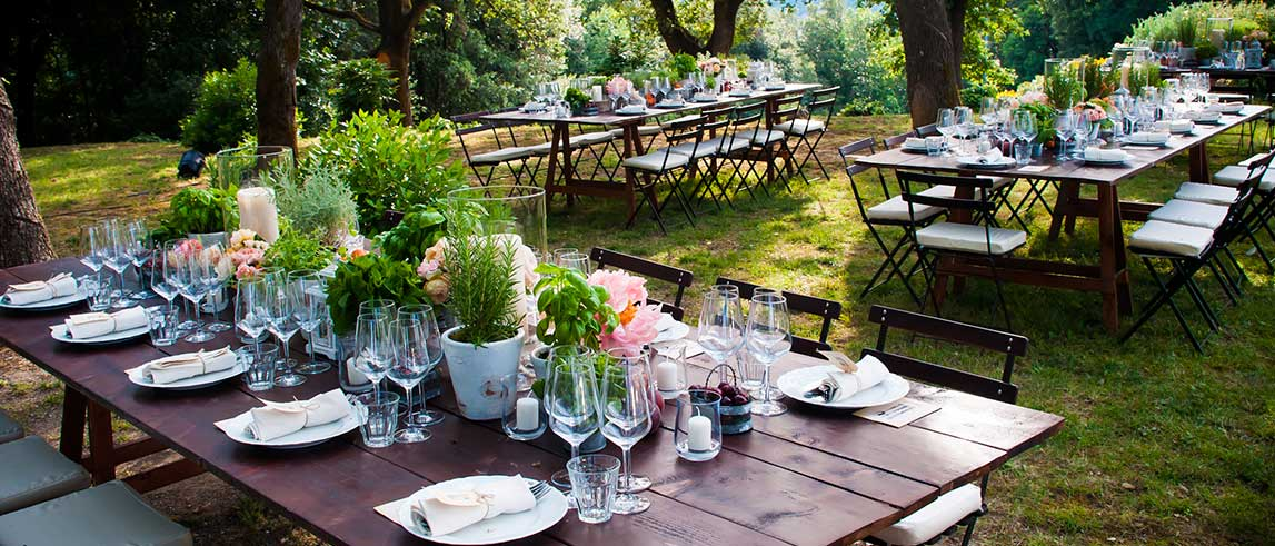 Catering wedding in campagna